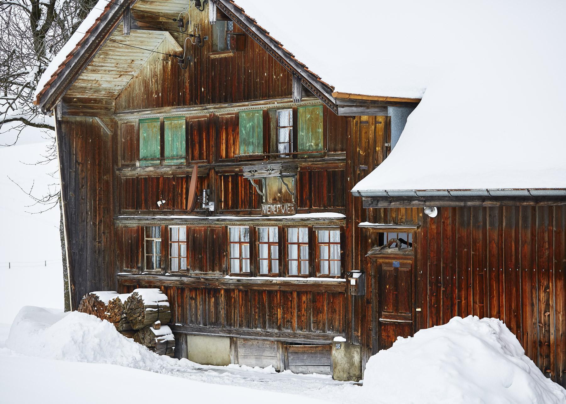 Appenzell Bauernhaus Winter