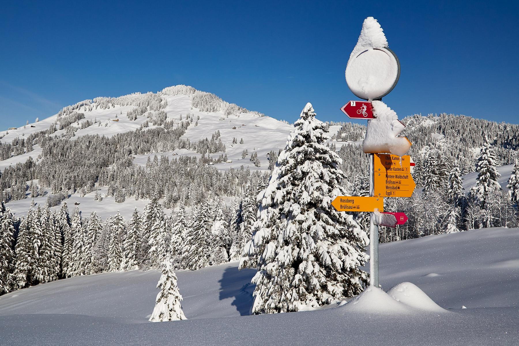 Fähnern Winter Schnee Alpstein Winter