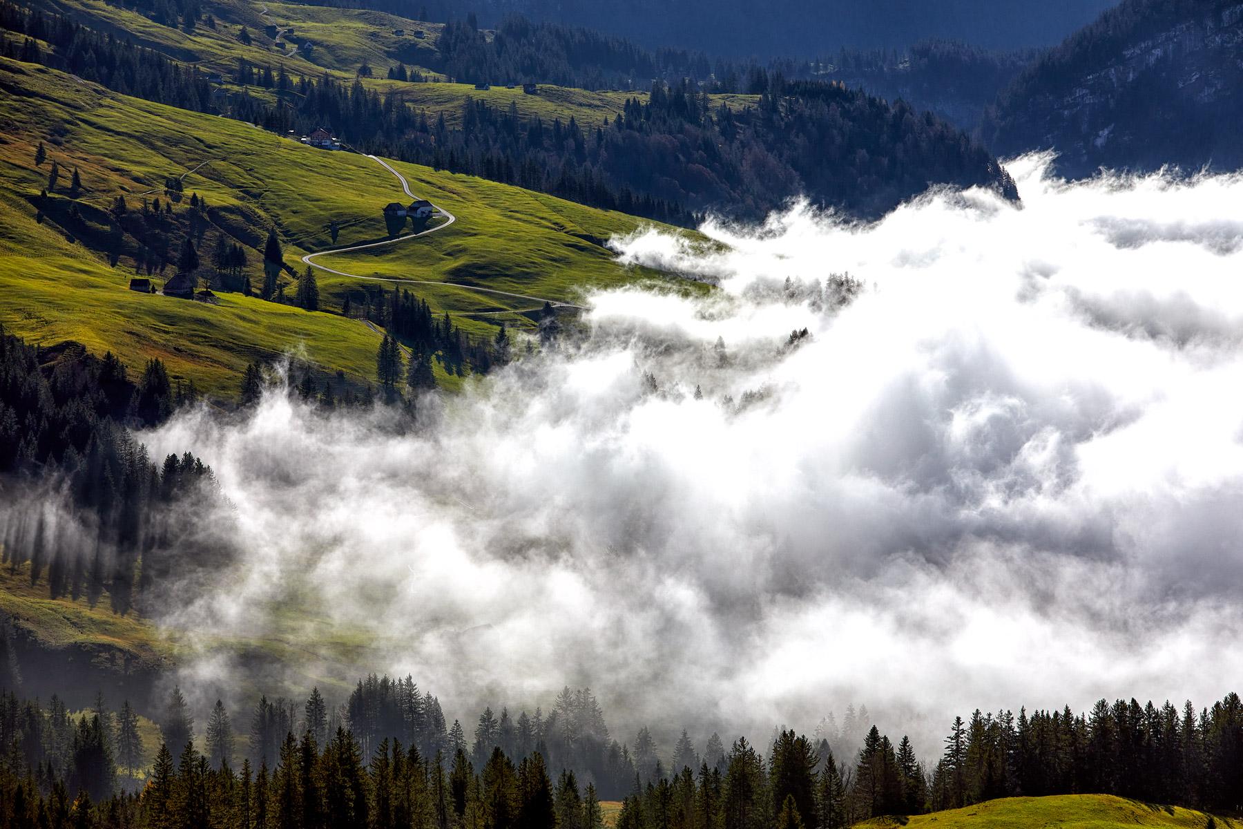 Ruhesitz Nebel Alpstein Appenzell