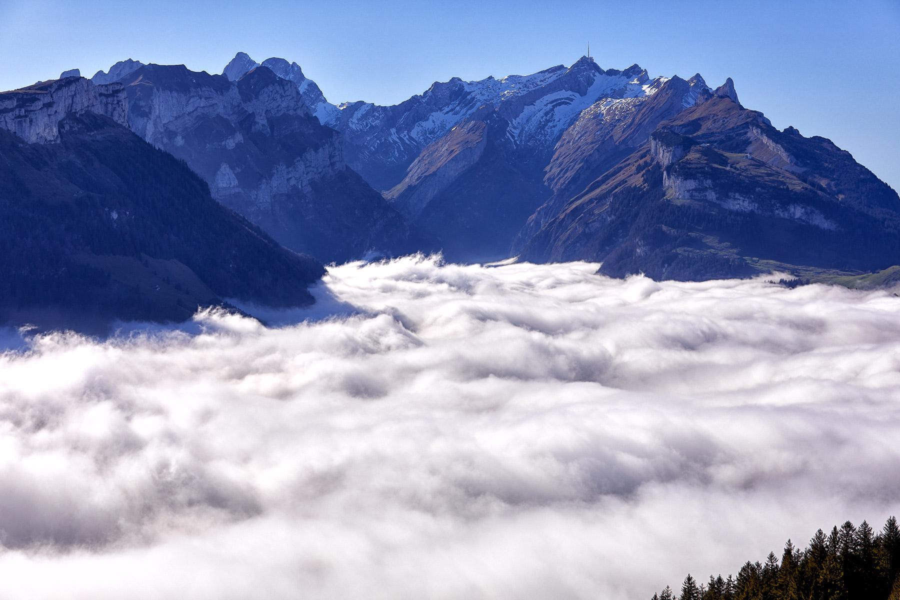 Säntis Nebel Alpstein Appenzell